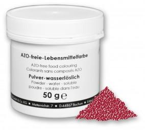 Lebensmittelfarbstoff, Pulver, Echtes Karmin (E120), 50 g wasserlöslich, rot (bläulich)