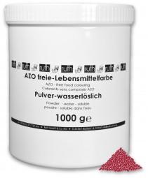 Lebensmittelfarbstoff, Pulver, Echtes Karmin (E120), 1000 g wasserlöslich, rot (bläulich)
