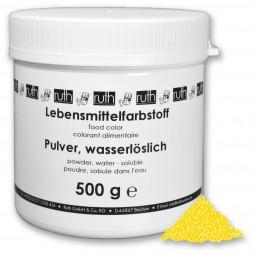 Lebensmittelfarbstoff, Pulver, 500 g, wasserlöslich, zitronengelb