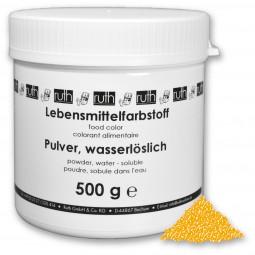 Lebensmittelfarbstoff, Pulver, 500 g, wasserlöslich, eigelb