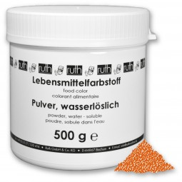 Lebensmittelfarbstoff, Pulver, 500 g, wasserlöslich, orange