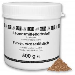 Lebensmittelfarbstoff, Pulver, 500 g, wasserlöslich, goldbraun