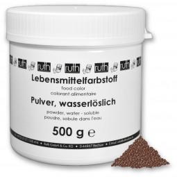 Lebensmittelfarbstoff, Pulver, 500 g, wasserlöslich, schokobraun