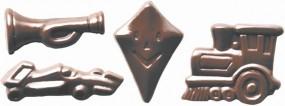 Form für Schoko-Dekore: Kindergeburtstag