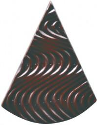 Form für Schoko-Dekore: Florentiner,spitz,klein,(10x) 16 St.