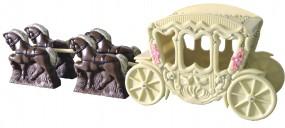 Form für Schoko-Dekore: Kutsche mit 2 Pferden, 67 cm